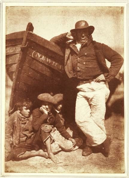 Linton with his sons and his boat, Newhaven, David Octavius Hill and Robert Adamson