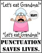 Saving lives daily - yay punctuation!