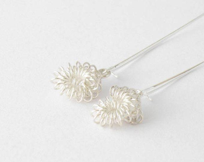 Delicate sterling silver drop earrings-Handmade sterling silver earrings MINOatelier.etsy.com  (scheduled via http://www.tailwindapp.com?utm_source=pinterest&utm_medium=twpin)