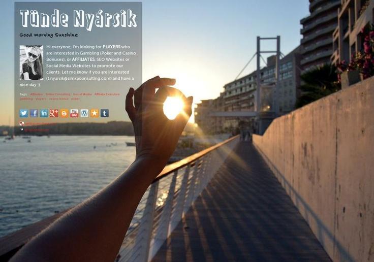 Tünde Nyársik's page on about.me – http://about.me/tundenyarsik