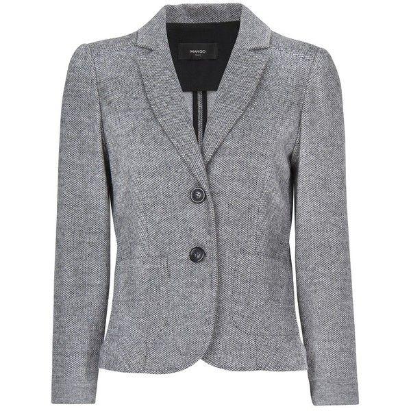 MANGO Fitted blazer ($30) ❤ liked on Polyvore featuring outerwear, jackets, blazers, coats & jackets, chaquetas, black, black fitted jacket, fitted blazer, fitted jacket and mango jacket