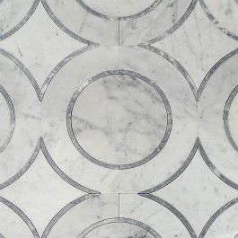 Shop 11.81 x 11.81 Highland Londonglow Sky Gray Carrara Polished Marble Tile in Gray at TileBar.com.
