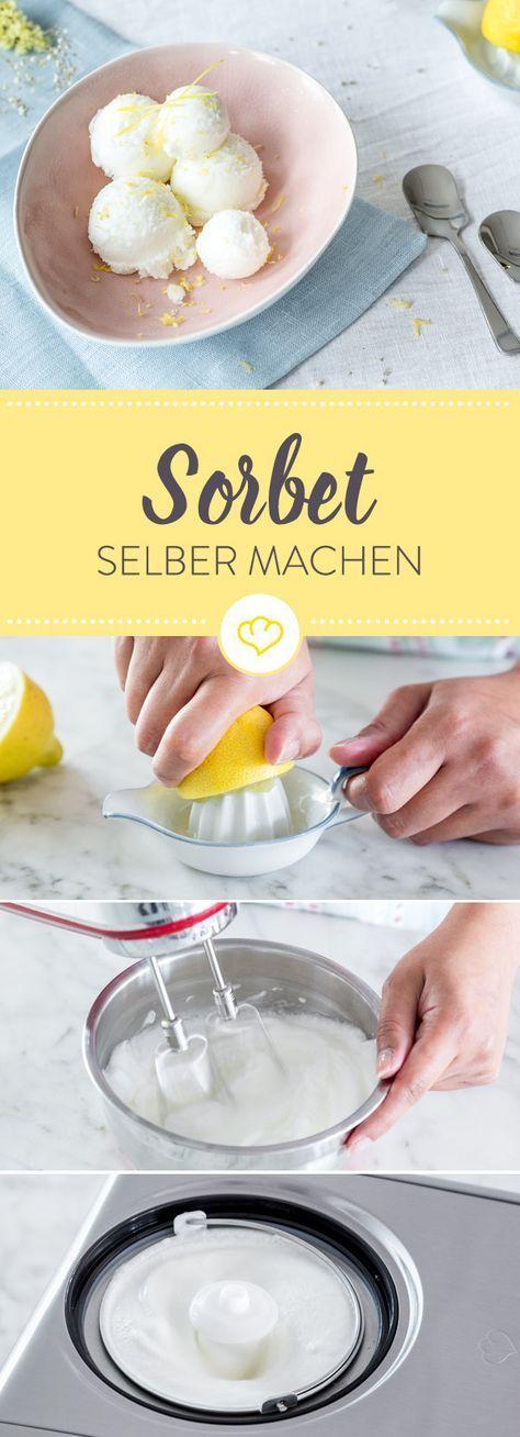 Zitronensorbet selber machen – so geht's