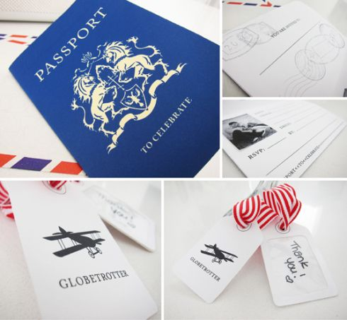 make your own passport template - invitation and tags free printable party pinterest