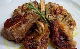 Risoto de funghi porcini com costeletas de cordeiro - Receitas - GNT