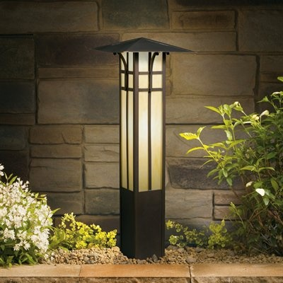 Kichler woods landscape path and spread 9 in olde bronze landscape lighting at hayneedle