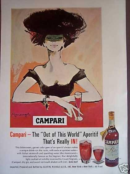 Fashionable Woman Art Campari Aperitif (1967)