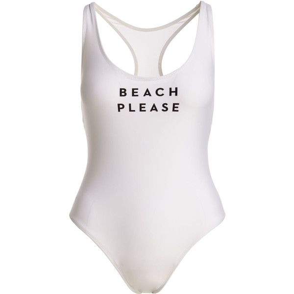 Milly Beach Please One-Piece Swimsuit (9,230 PHP) ❤ liked on Polyvore featuring swimwear, one-piece swimsuits, racerback swimsuit, beach wear, 1 piece bathing suits, racerback one piece swimsuit and scoop neck one piece swimsuit