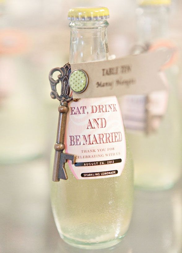 At a sun soaked event, your guests will be more than thankful for a refreshing beverage to help them keep cool! Wedding Favors, Summer Wedding Ideas