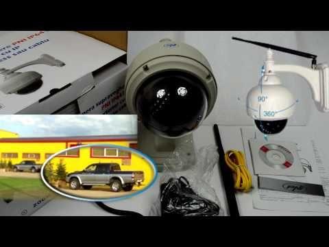 Camera supraveghere cu IP PNI IP641W dome de exterior PTZ conectare wireless sau cablu - YouTube