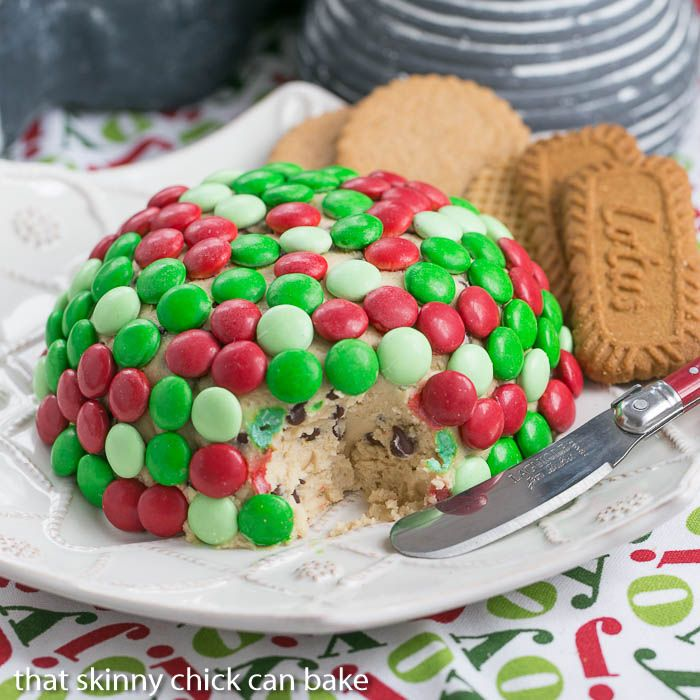 Cookie Dough Cheese Ball - That Skinny Chick Can Bake