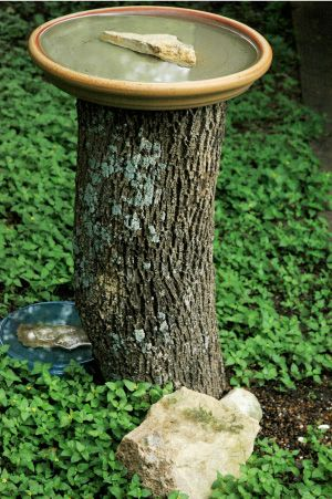 Rustic Bird Baths   Garden Crafts & Garden Decor
