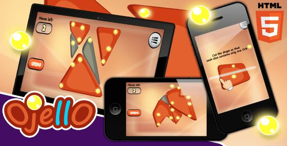 OJELLO is a unique brain and puzzle game in which you need to find the best way to cut a shape to collect the orbs.