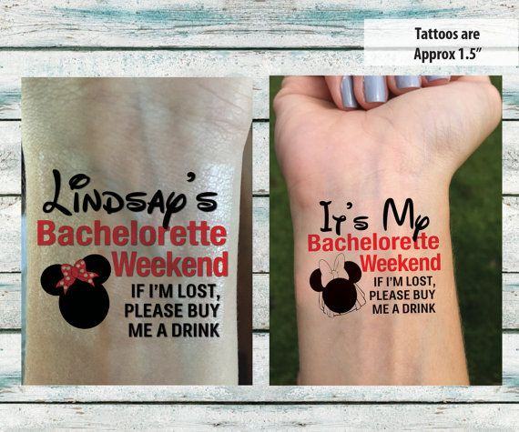 Bachelorette Party Temporary Tattoos by DesignsByLindsayy on Etsy