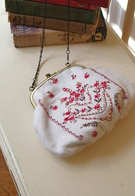 How to: make a framed purse.  DIY
