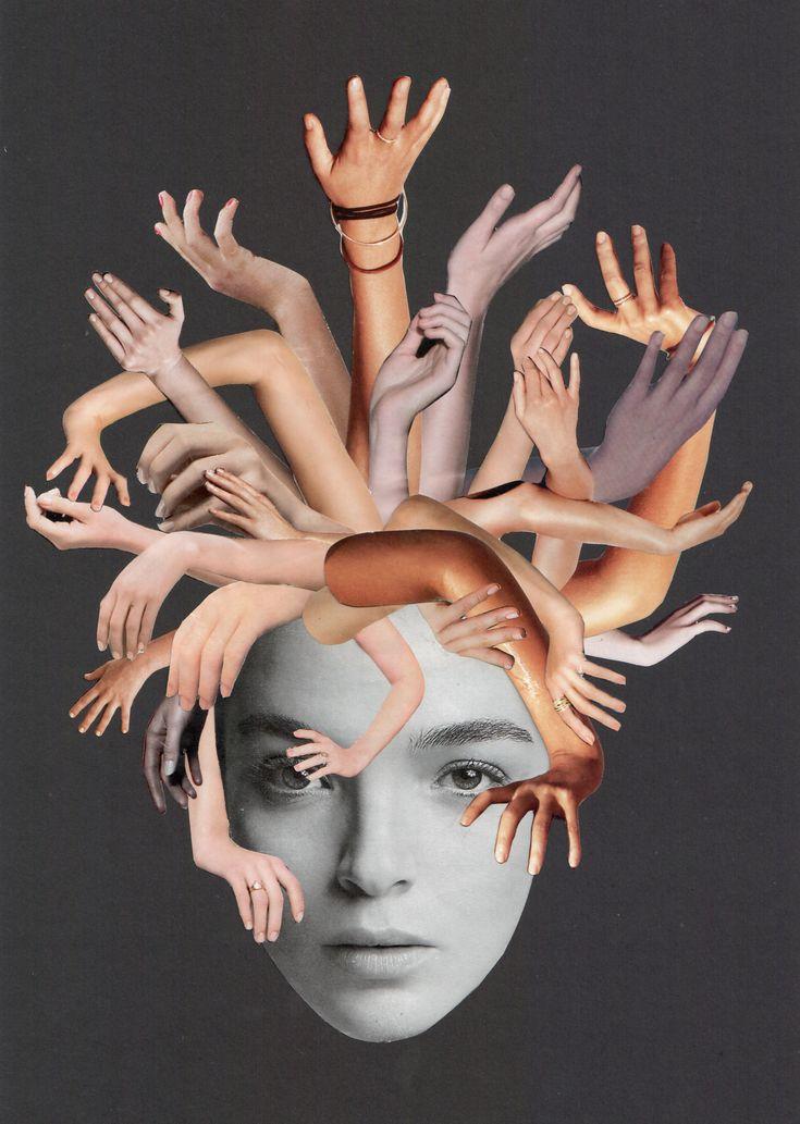 """Medus"" - Collage 2014 – 29,7 x 21 cm - (c) Sabine Remy - http://miriskum.de/ Overload"