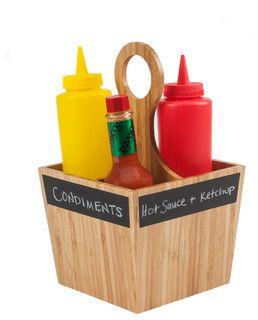 Condiment Carrier with Chalkboard Labels - contemporary - food containers and storage - by Great Useful Stuff