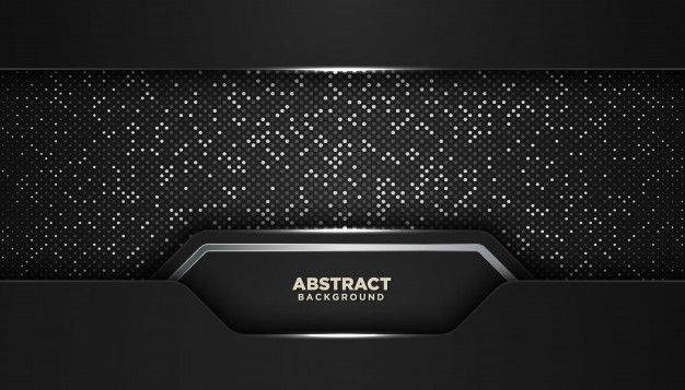 Black Abstract Geometric Background With Glitters Dots In 2020