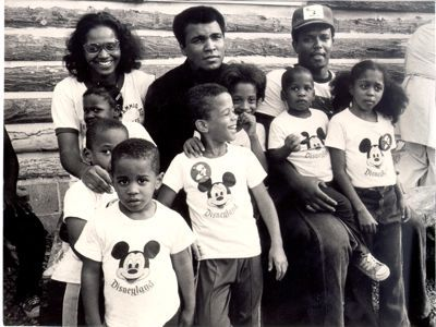 "Family photo of the boxer, married to Yolonda Williams, famous for ""Sportsman of the Century"" & 1960 Olympics."