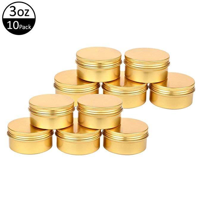 Tmo Aluminum Tins 3 Oz 90g Screw Top Metal Tin Container Round Steel Tin Cans Metal Steel Tin Jars Cosmetic Sample Contai Tin Containers Metal Tins Tin Candles