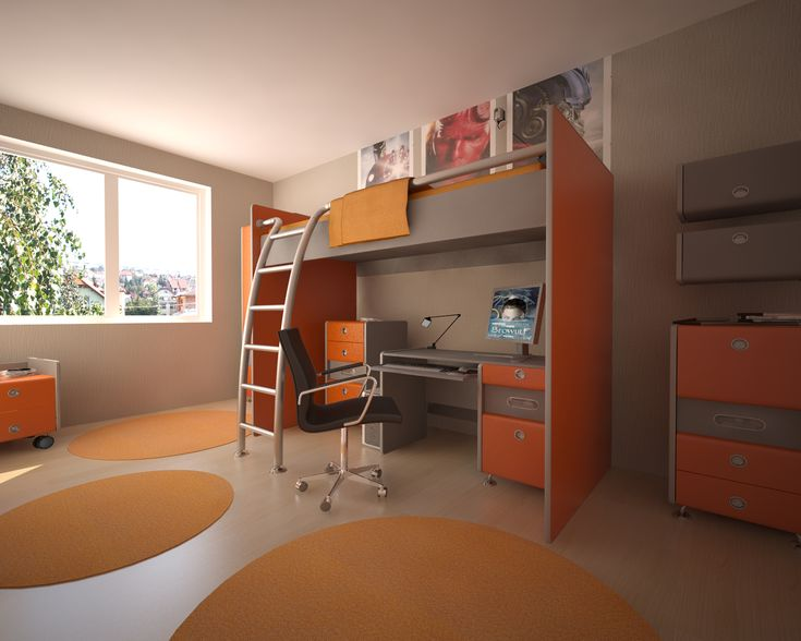 Gyerekszoba - látványterv / Room for children - architectural visualization
