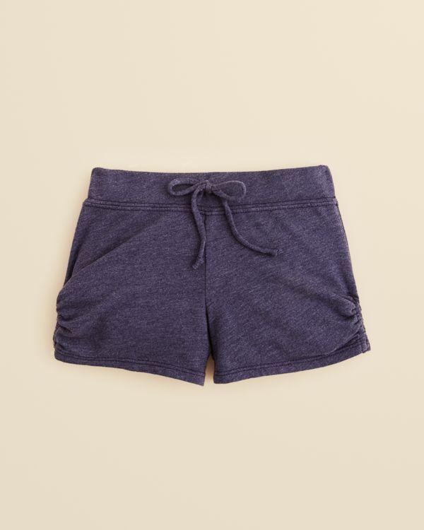 Aqua Girls' Side Scrunch Shorts - Sizes 2-6X
