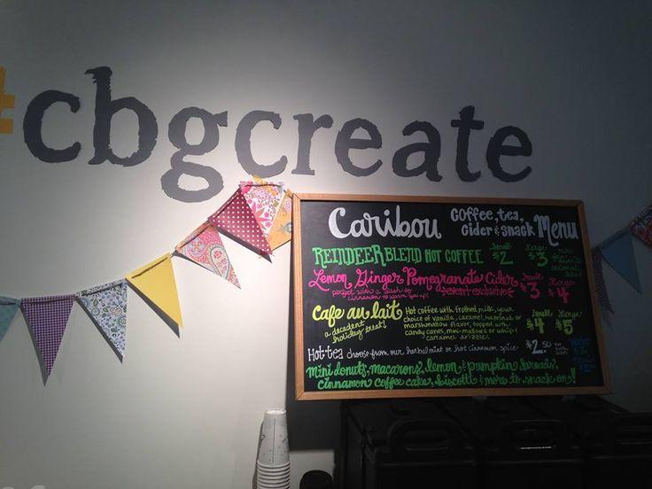 Caribou menu for offsite Craft Box Girls event