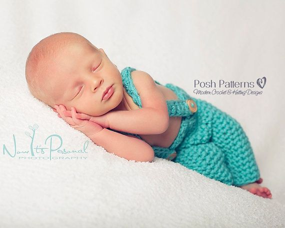 Crochet PATTERN Overalls Pattern Baby Pants and by PoshPatterns