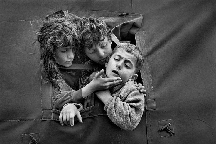 Cristina Garcia Rodero ALBANIA. Kukes. 1999. Kosovar refugees. Via Magnum Photos