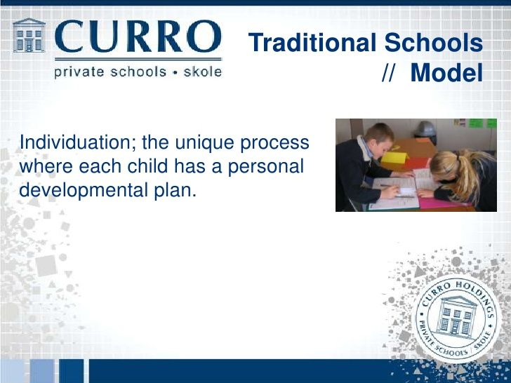Traditional Schools                                     // ModelValue Added Programmes   Character Building   Anti-Bully...