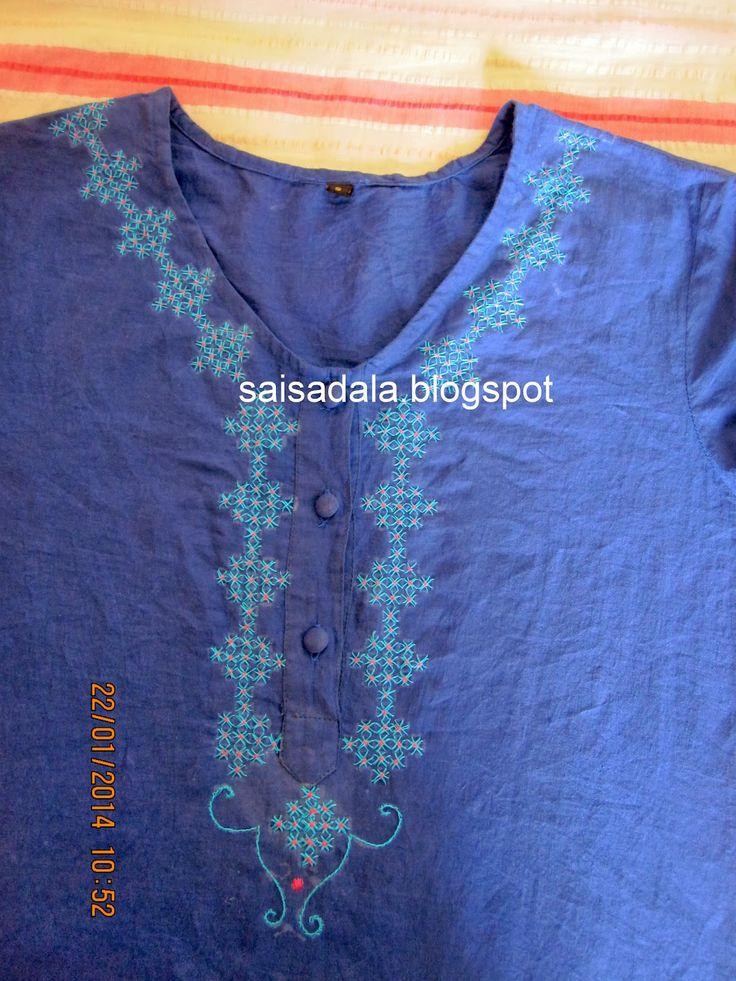 Sadala's Embroidery: Pachis Work: Kurthi
