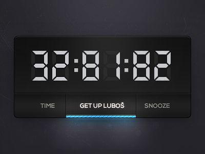 Dribbble - Clock (wdgt) by Luboš Volkov