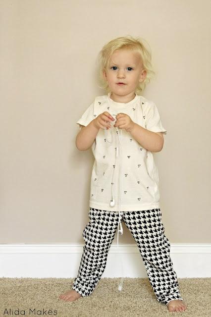 Alida Makes sharpie shirt houndstooth pants