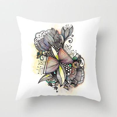 Bouquet Throw Pillow by Jessica Wilde - $20.00