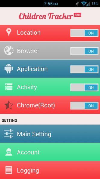 Children Tracker Android App
