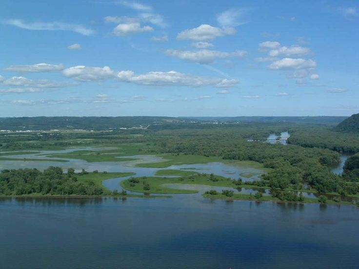 The Mississippi River in the USA