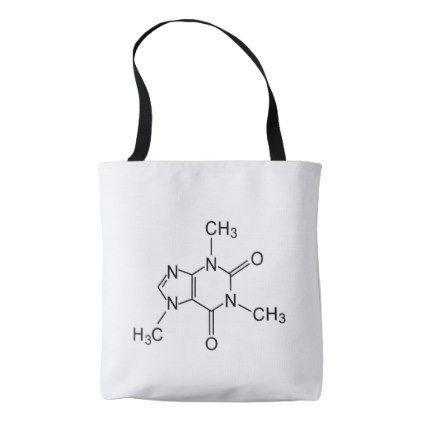 caffeine chemical formula coffee chemistry element tote bag - coffee custom unique special
