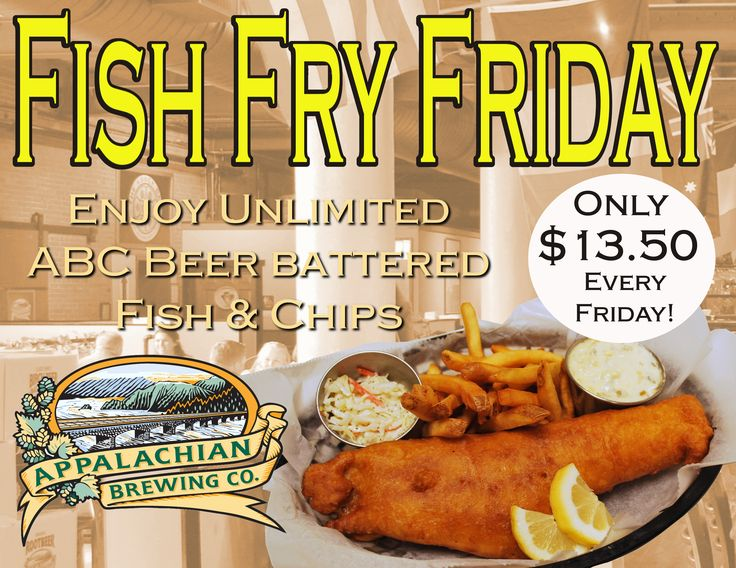 Pair Fish Fry Friday with our Water Gap Wheat Ale and it's officially a good start to the weekend. Every Friday every week! #FishandChips