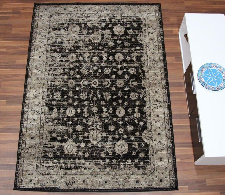 Antique Look Modern Feel Brown Rug