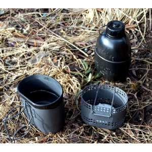 The Crusader Cooking System An innovative, strong and durable cooking set that provides you with everything that you need for backpacking, exploring and wild camping, it consists of a cooker and cup that are made from high grade hard anodised aluminium and a Nato canteen and mug which all offer a low pack weight and maximum durability. Far better than the old Crusader System, it holds more in the cup, the cooker holds more solid fuel, cooker is ventilated to improve draw, and it cooks…