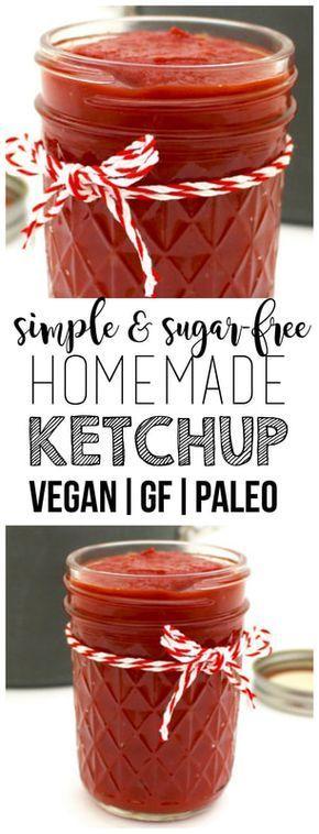 Sugar-Free Homemade Ketchup (Paleo, Vegan, Gluten-Free, Oil-Free)