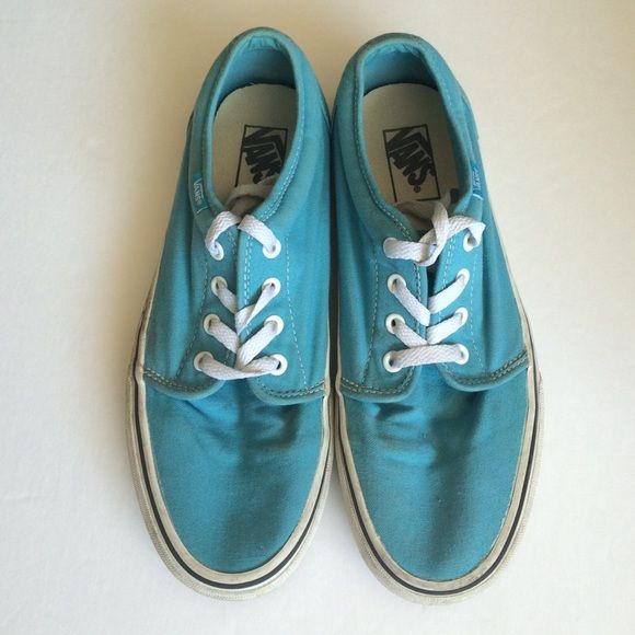 Tiffany Blue Vans In good used condition | hardly worn | Canvas | beautiful Tiffany Blue or Robins Egg Blue Vans Shoes