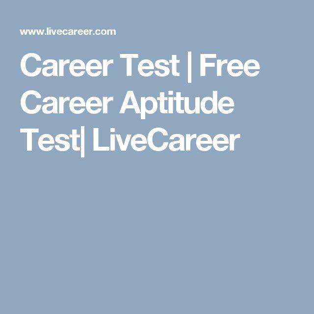 Career Test | Free Career Aptitude Test| LiveCareer