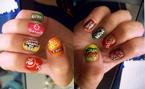 New meaning to manicure! Better than eating all those goodies, I guess! Ha!
