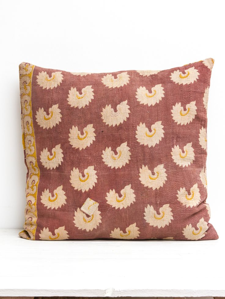 Vintage Kantha Pillow
