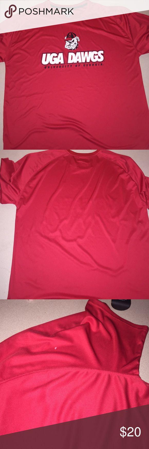 University of Georgia shirt Pretty red never worn UOG shirt bulldog fusion fit Shirts Tees - Long Sleeve