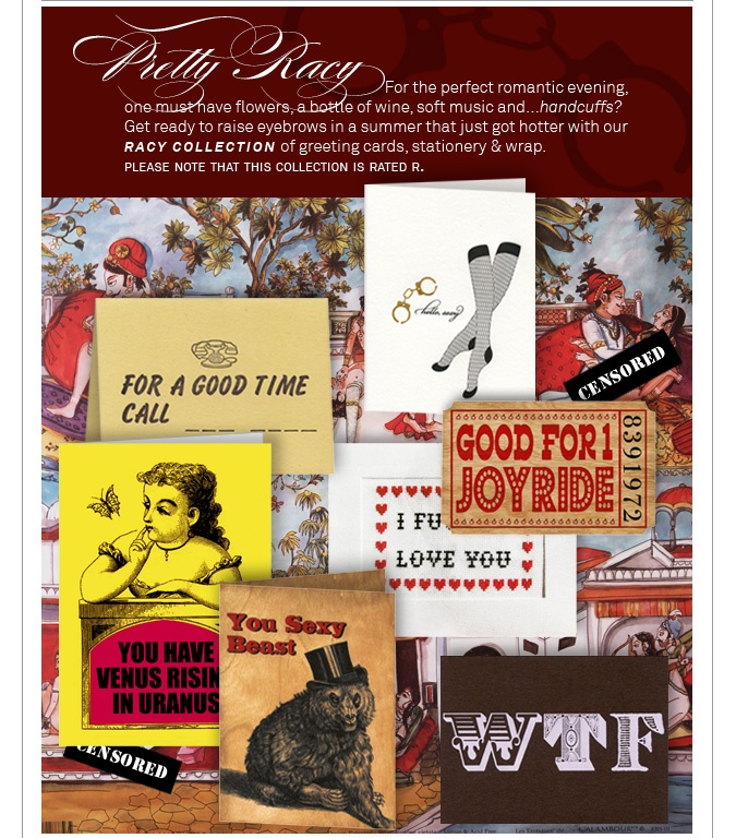 Our Rated R for Racy Collection - cards, stationery, gift wrap