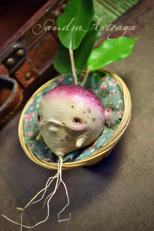 Tatari Nabi by SandraArteagA on etsy.  Her work is beautifully detailed and darkly whimsical--always a favorite!
