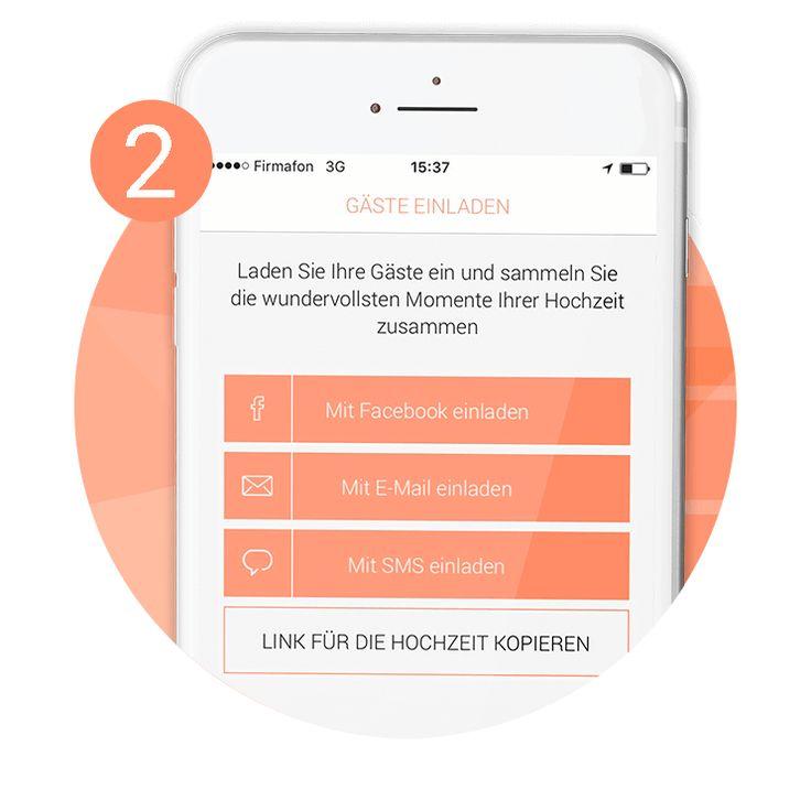 Mithilfe dieser einzigartigen und wunderschönen App können Ihre Gäste nicht nur kinderleicht Bilder und Videos teilen; sondern auch leicht herunterladen.