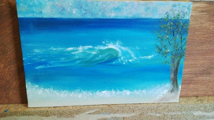 The wave # painting done by me